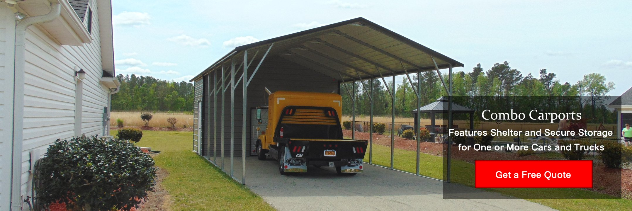 Carports metal garages metal buildings cardinal carports for Carport shop combo