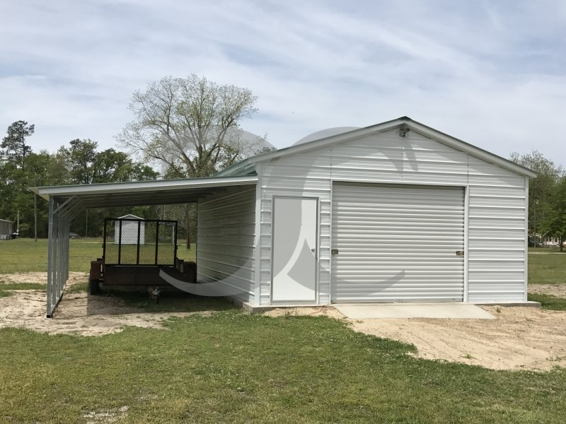 93 metal garage with lean to general steel garage for Car lean to