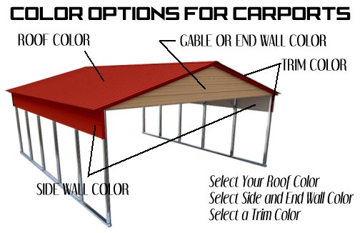 Color Options for Carports