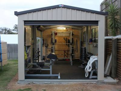 transform your metal garage into a perfect home gym and