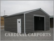 One Car Garages Metal