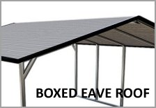 Single Carports Boxed Eave Roof
