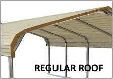 Single Carports Regular Roof