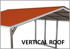 Single Carport Vertical Roof