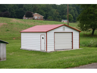Boxed Eave Garages | A-Frame Metal Garages
