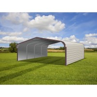 Carport | Regular Roof | 20W x 21L x 6H` | Both Sides Closed