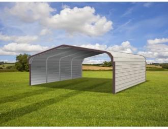 Carport | Regular Roof | 20W x 21L x 6H` | Both Sides Closed