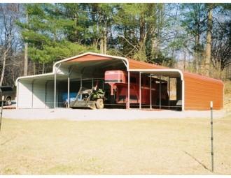 Metal Barn Equipment Shelter | Regular Roof | 44W x 26L x 9L