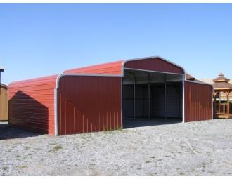 Steel Barn Shelter | Regular Roof | 42W x 21L x 9H