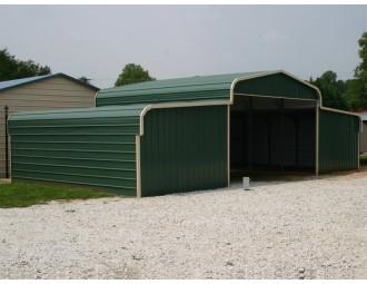 Steel Storage Barn   Regular Roof   42W x 26L x 9H   Barns