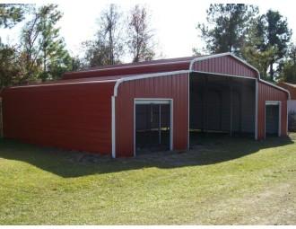 Steel Barn Shelter | Regular Roof | 42W x 26L x 9H | Metal Shelter