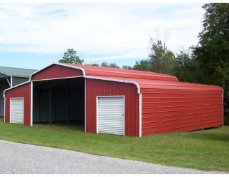 Metal Horse Barn | Regular Roof | 44W x 26L x 9H | Ag Barn