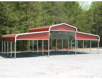 Metal Barn Shelter | Regular Roof | 36W x 21L x 10H | Metal Ag Shelter