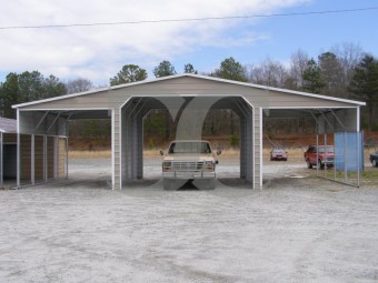 Continuous Roof Metal Barn | Boxed Eave Roof | 42W x 21L x 12H |  Ag Barn
