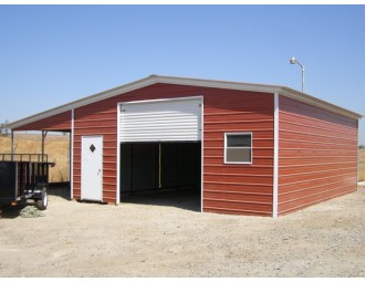Continuous Roof Barn | Vertical Roof | 36W x 26L x 10H | Enclosed Barn