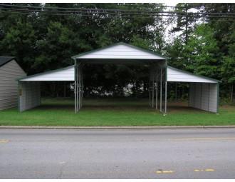 Metal Barn | Boxed Eave Roof | 42W x 21L x 12H | Carolina Barn