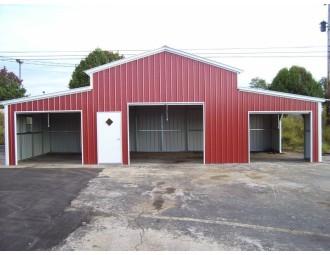 Enclosed Metal Barn | Vertical Roof | 44W x 21L x 12H | Carolina Barn