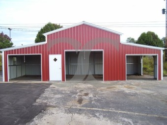 Enclosed Metal Barn | Vertical Roof | 44W x 21L x 12H | Carolina Barn
