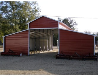 Horse Barn | Boxed Eave Roof | 42W x 31L x 12H | Raised Center Aisle