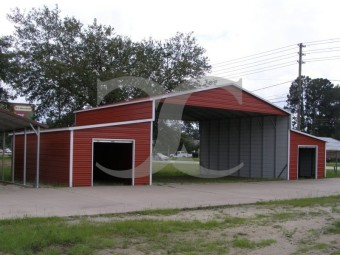 Metal Barn Lean-to Sheds | Boxed Eave Roof | 52W x 31L x 12H | Carolina Barn