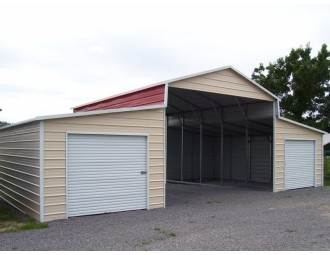 Carolina Barn | Boxed Eave Roof | 42W x 31L x 12H | Metal Barn