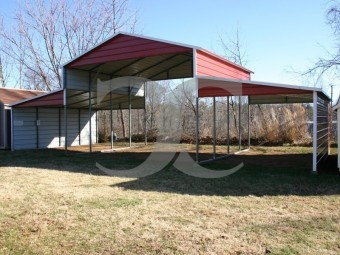 Metal Barn Building | Boxed Eave Roof | 46W x 21L x 12H | Carolina Barn