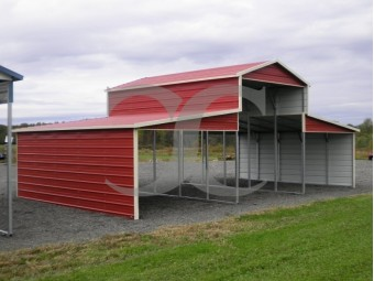 Metal Barn Shelter | Boxed Eave Roof | 36W x 21L x 12H | Carolina Barn