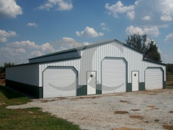 Deluxe Carolina Barn | Vertical Roof | 48W x 36L x 12H | Metal Barn