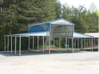 Metal Carolina Barn | Boxed Eave Roof | 36W x 21L x 12H | Barn Shelter