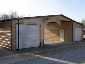 Seneca Barn   Vertical Roof   44W x 26L x 11H    Continuous Roof