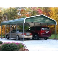 Carport | Regular Roof | 18W x 21L x 7H` | 2 Gables