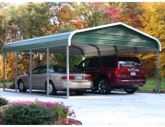 Carport | Regular Roof | 18W x 21L x 7H` | 2 Gables