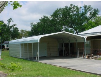 Carport | Regular Roof Roof | 20W x 31L x 6H Utility Carport