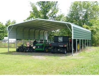 Carport   Regular Roof   24W x 36L x 8H`   2 Panels