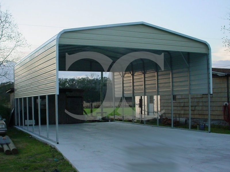 Carport | Regular Roof | 22W x 36L x 11H | 4 Panels | 2 Gables