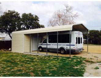 Carport | Regular Roof Roof | 16W x 36L x 8H Utility Carport