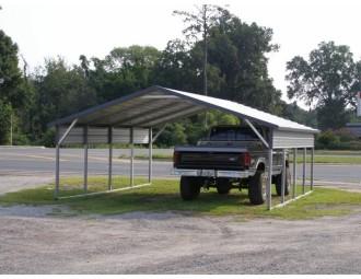 Carport   Boxed Eave Roof   20W x 21L x 6H   2 Panels