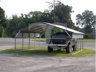 Carport | Boxed Eave Roof | 20W x 21L x 6H | 2 Panels