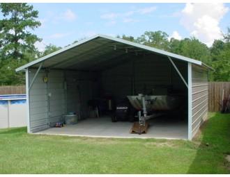 Carport | Boxed Eave Roof | 18W x 21L x 7H