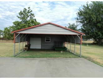 Carport | Boxed Eave Roof | 20W x 26L x 7H Utility Carport Combo