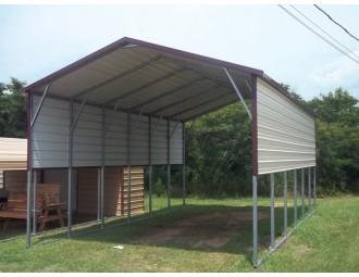 Carport   Boxed Eave Roof   18W x 31L x 11H   RV Carport