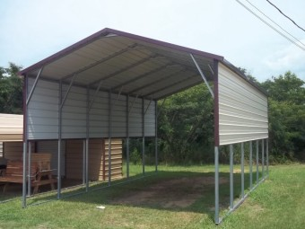 Carport | Boxed Eave Roof | 18W x 31L x 11H