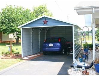 Carport | Boxed Eave Roof | 12W x 21L x 7H