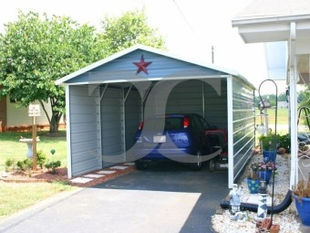 Carport | Boxed Eave Roof | 12W x 21L x 7H