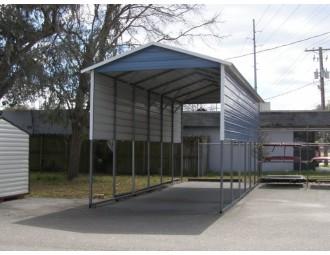 Carport | Boxed Eave Roof | 12W x 31L x 12H | 4 Panels | 2 Gables