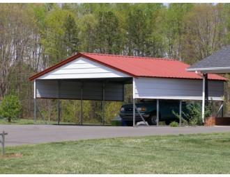 Carport | Vertical Roof | 20W x 21L x 8H` | 2 Gables | 2 Panels