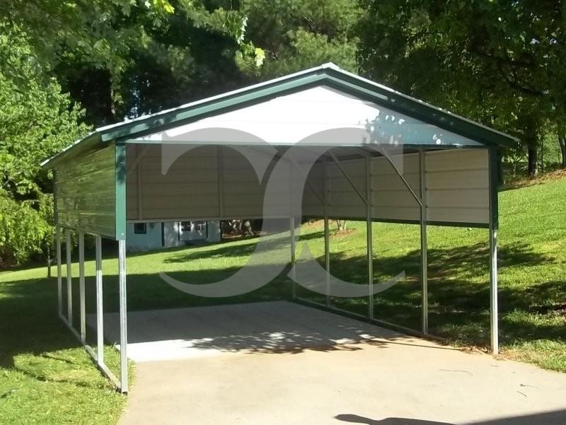 Metal Carport Panels : Carport vertical roof w l h gables panels