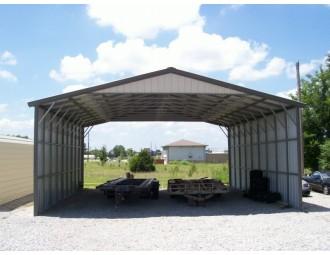 Carport   Vertical Roof   30W x 36L x 12H Triple-Wide