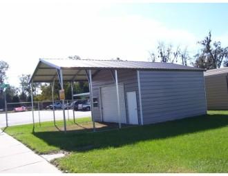 Carport   Vertical Roof   18W x 31L x 10H Utility