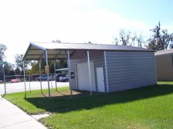 Carport | Vertical Roof | 18W x 31L x 10H Utility